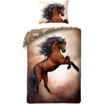 Lovas ágyneműhuzat barna ló