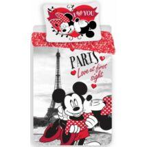Minnie és Mickey egér ágyneműhuzat Párizs piros
