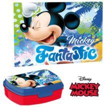 Mickey egér szendvicsdoboz + kéztörlő, arctörlő szett