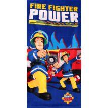 sam a tűzoltó fürdőlepedő pamut kék