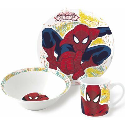 pókember porcelán étkészlet