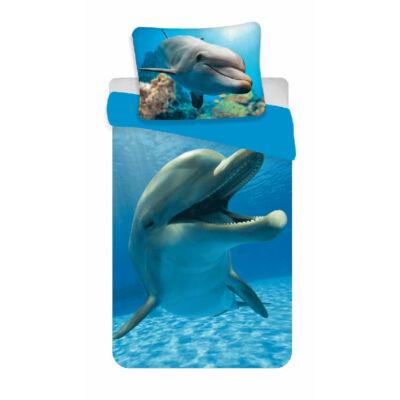 delfines ágyneműhuzat kék