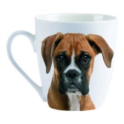 Boxer porcelán bögre