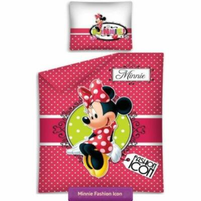 Minnie egeres ágyneműhuzat piros pöttyös