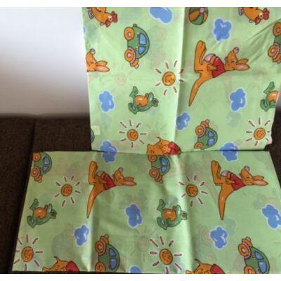 kenguru mintás zöld ovis gyerek ágyneműhuzat. Ágyneműhuzat gyerekeknek
