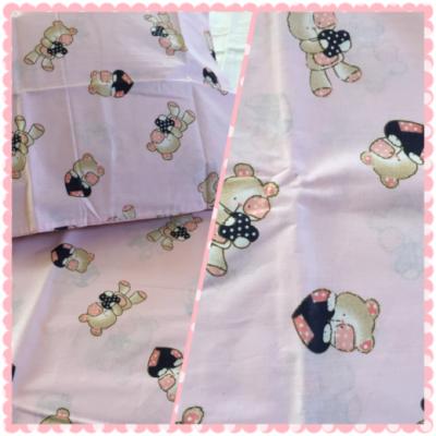 maci mintás rózsaszín ovis gyerek ágyneműhuzat. Ágyneműhuzat gyerekeknek pamut