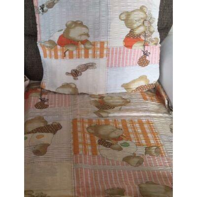 maci mintás narancs ovis gyerek ágyneműhuzat. Ágyneműhuzat gyerekeknek krepp