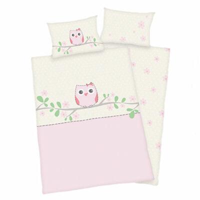 Rózsaszín bagoly mintás ovis ágyneműhuzat. Ágyneműhuzat gyerekeknek.