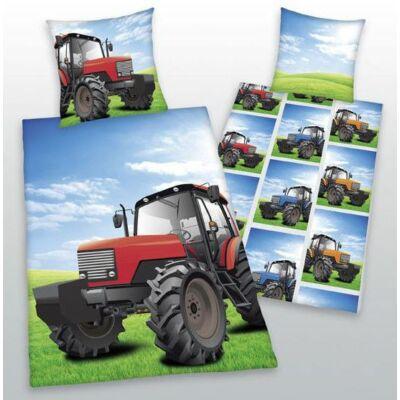 Traktor mintás ágyneműhuzat, cipzáras, pamut