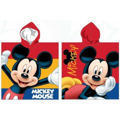 Mickey egér piros kapucnis poncsó, fürdőlepedő, zöld