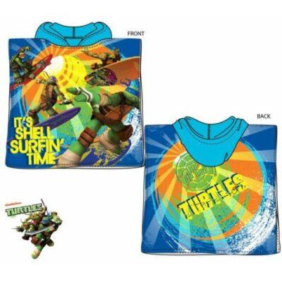 Tini ninja teknősök kapucnis poncsó, fürdőlepedő, zöld