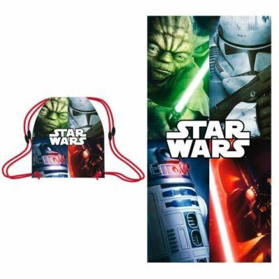 Star wars fürdőlepedő tornazsákkal pamut