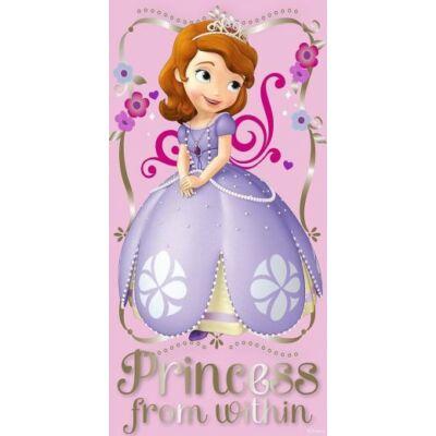 szófia hercegnő virágos fürdőlepedő pamut rózsaszín