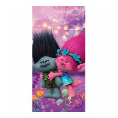 trollok Ágas és Pipacs fürdőlepedő pamut rózsaszín
