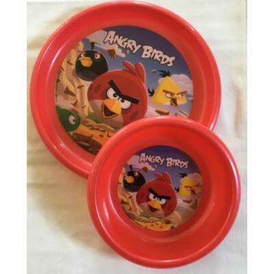 angry birds műanyag étkészlet