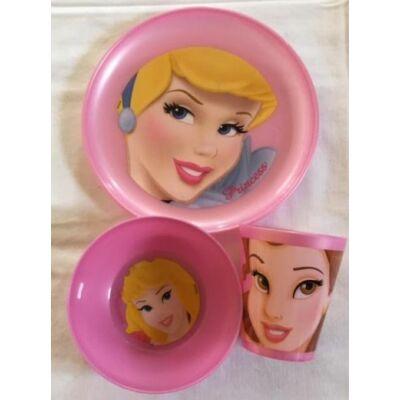 Hercegnők műanyag étkészlet