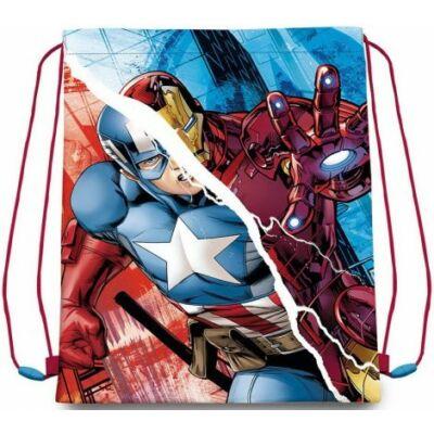 Hősök kék sportzsák, avengers tornazsák