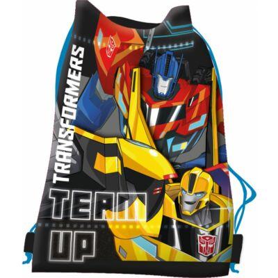 transformers kék sportzsák, tornazsák