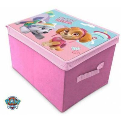 mancs őrjárat rózsaszín játéktároló doboz