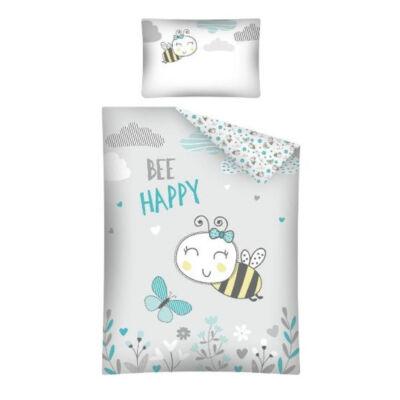 Méhecskés mintás ovis ágyneműhuzat. Ágyneműhuzat gyerekeknek.